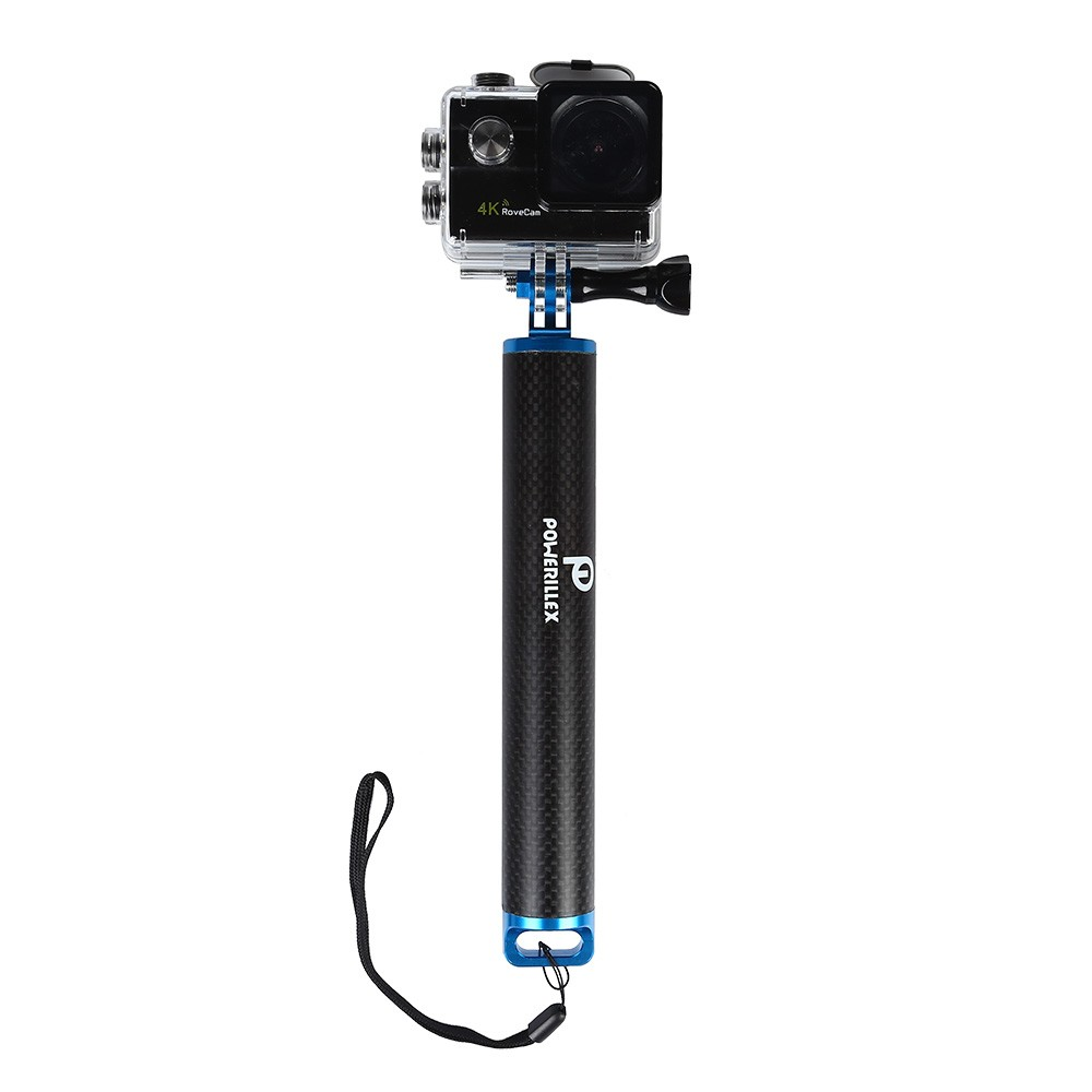 Waterproof Floating Hand Grip Carbon Fiber Handler Pole with Wrist Strap for Gopro Hero 5 Session Black Silver Hero+LCD 4 3+ 3 2 HD Camera[Camera Not Included]