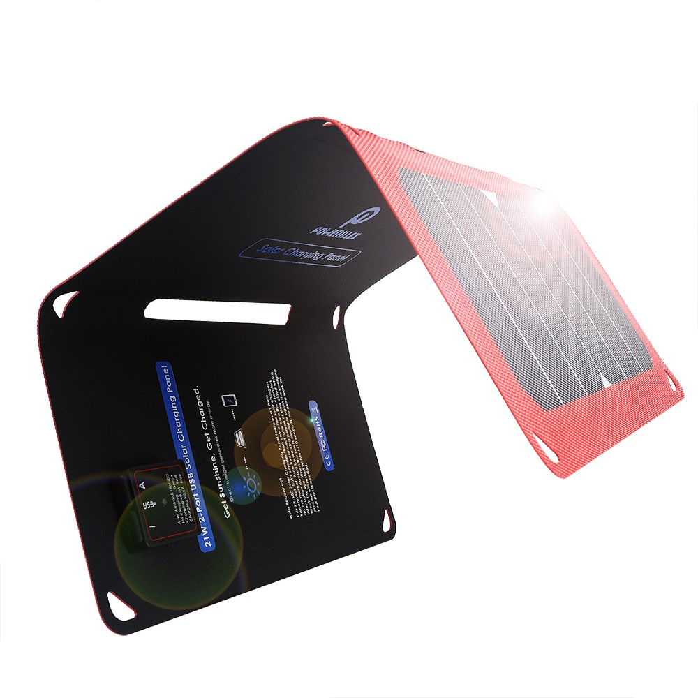 2-Port ETFE USB Solar Panel Charger with Auto Restart Tech