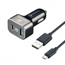 2-Port Quick Charge 3.0 33W Type-C USB Car Charger
