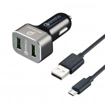 2-Port Quick Charge 3.0 36W  USB Car Charger